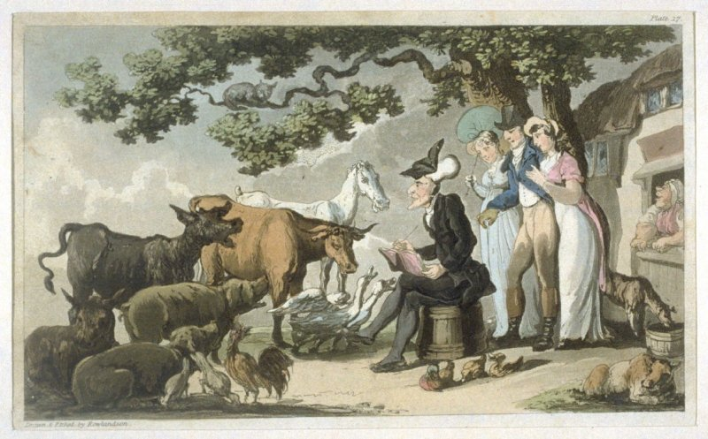 Dr. Syntax Drawing After Nature, illustration to Combe's 'The Tour of Dr Syntax: In Search of the Picturesque'