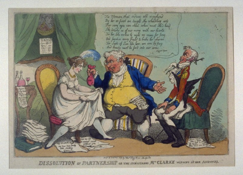 Dissolution of Partnership or the Industrious Mrs Clarke winding up her Accounts