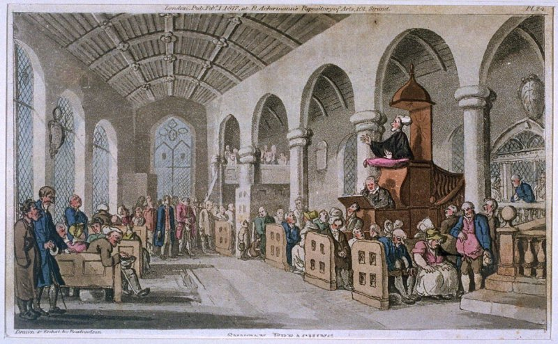 Dr. Syntax Preaching, from Combe's 'The Tour of Dr Syntax in Search of the Picturesque'