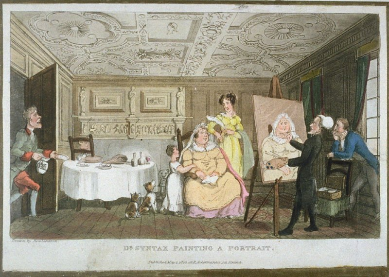 Dr. Syntax Painting a Portrait, from Combe's 'The Second Tour of Dr Syntax in Search of Consolation'