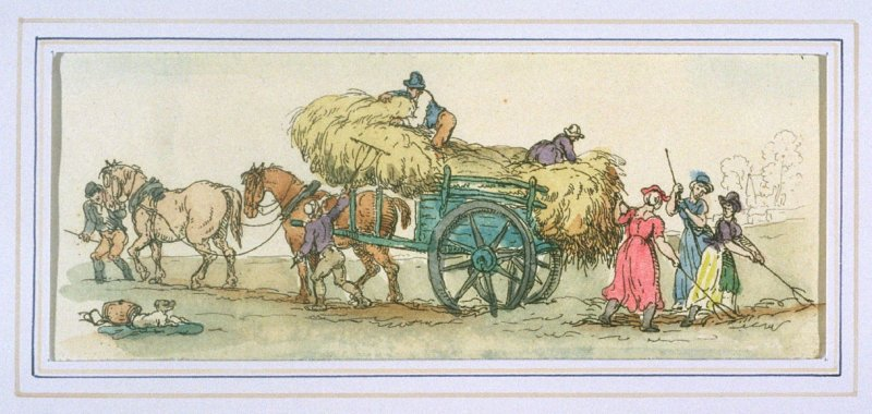 Loading Hay, illustration to 'The World in Miniature'