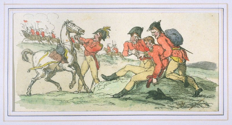The Wounded Cavalryman, illustration to 'The World in Miniature'
