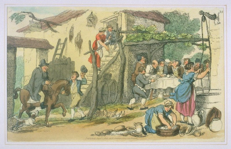 The Meal In The Farm Yard, illustration to 'The World in Miniature'