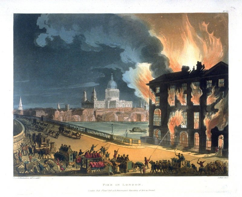 Plate 35: Fire In London, illustration to 'The Microcosm of London' (London, Ackermann, 1808-10)
