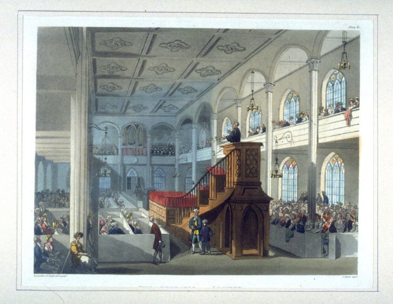 Plate 61: Philanthropic Society, The Chapel, illustration to 'The Microcosm of London'