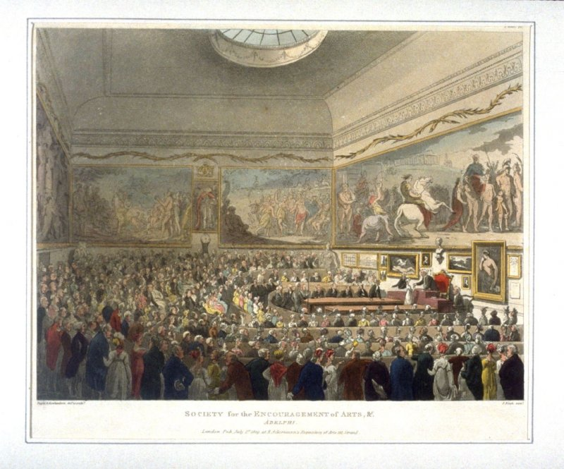 Plate 71: Society for the Encouragement of Arts, illustration to 'The Microcosm of London'
