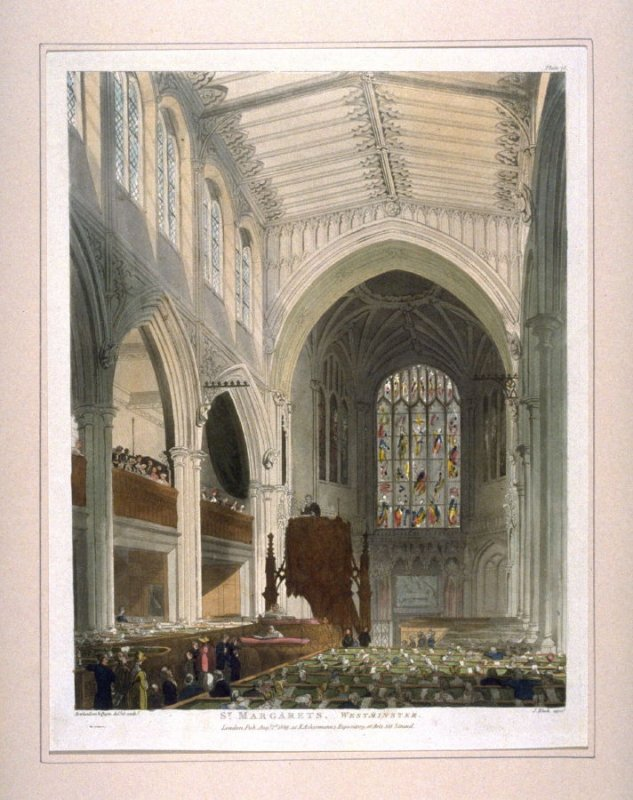 Plate 78: St. Margaret's, Westminster, illustration to 'The Microcosm of London'