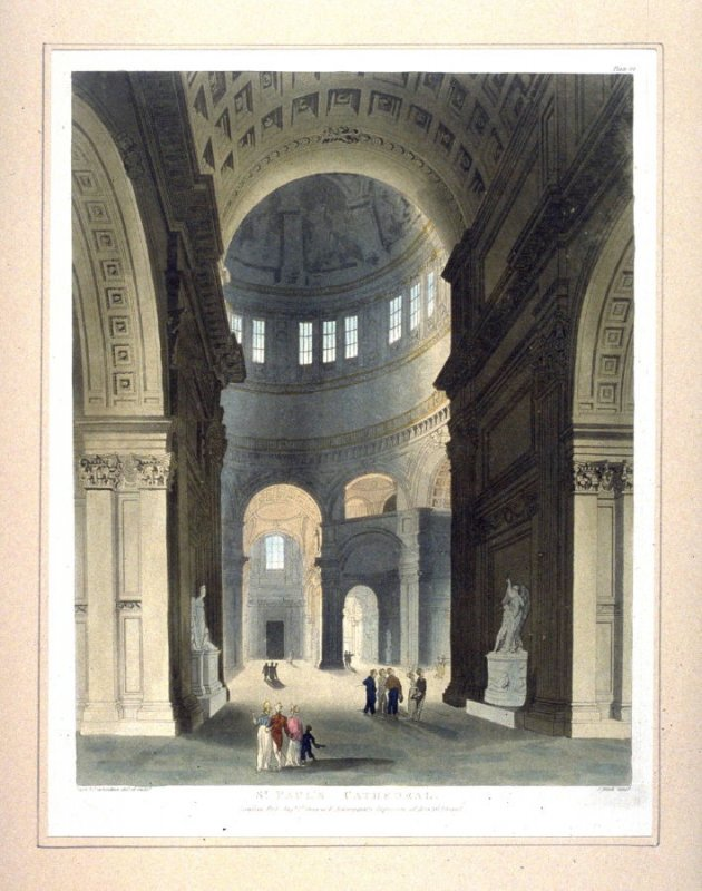 Plate 80: St. Paul's Cathedral, illustration to 'The Microcosm of London'