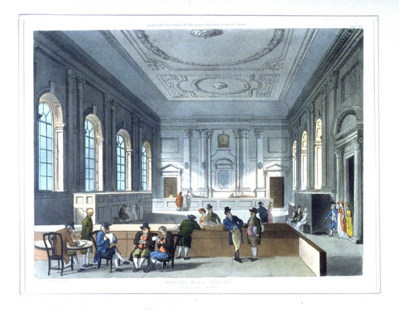 Plate 102: South Sea House, illustration to 'The Microcosm of London'