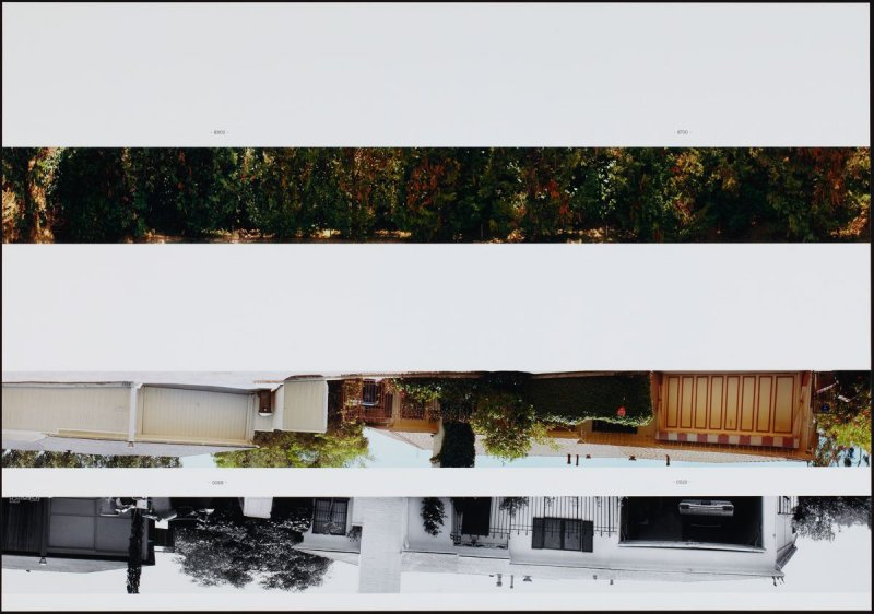 8800 - 8700, from the portfolio THEN & NOW: Ed Ruscha / Hollywood Boulevard / 1973-2004