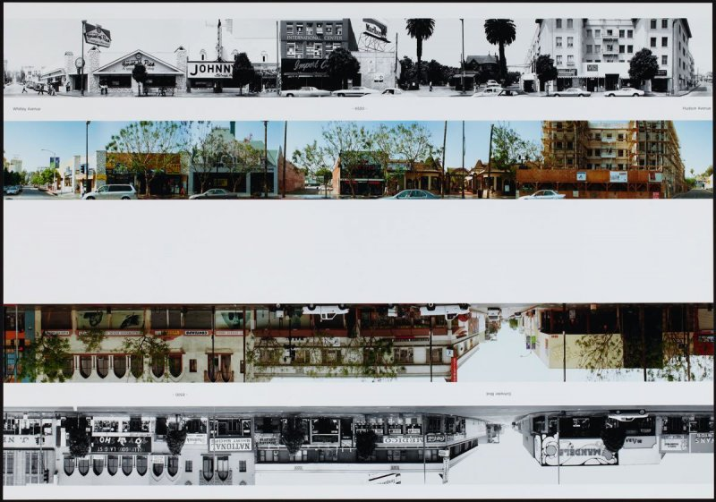 Whitley Avenue - 6500 - Hudson Avenue, from the portfolio THEN & NOW: Ed Ruscha / Hollywood Boulevard / 1973-2004