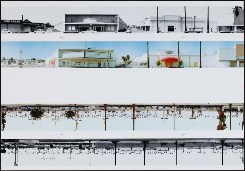 6000 - 5900, from the portfolio THEN & NOW: Ed Ruscha / Hollywood Boulevard / 1973-2004