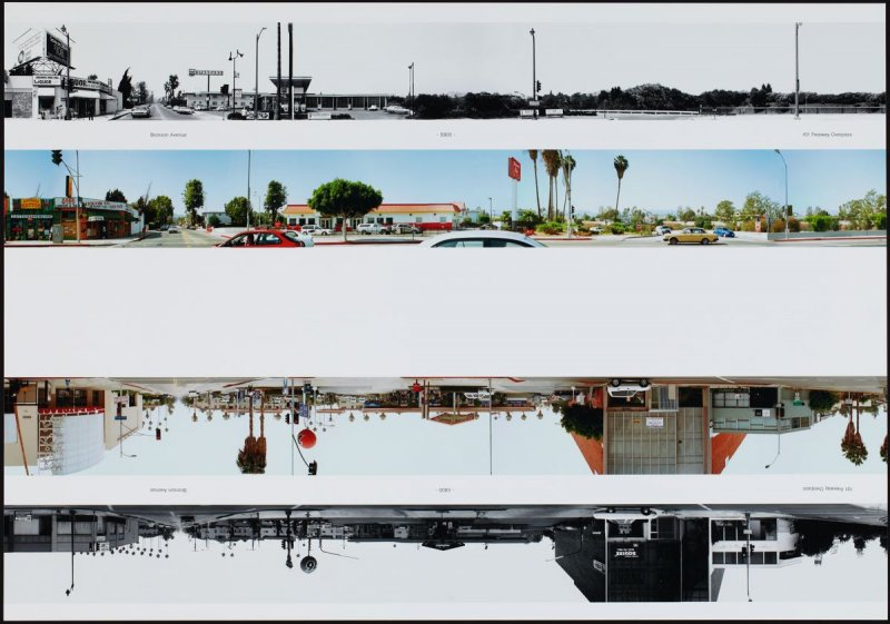 Bronson Avenue - 5800 - 101 Freeway Overpass, from the portfolio THEN & NOW: Ed Ruscha / Hollywood Boulevard / 1973-2004