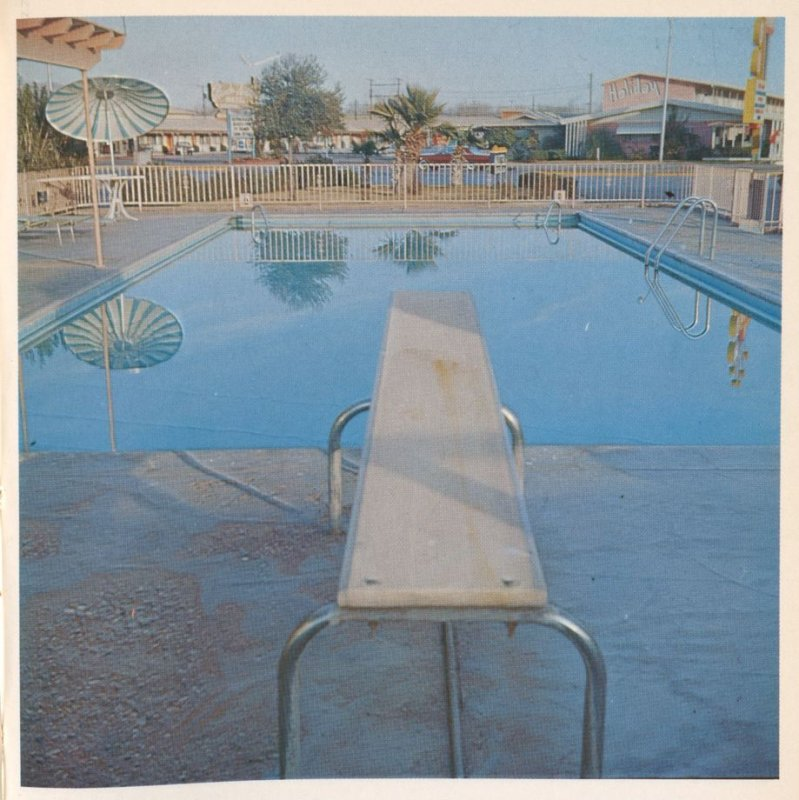 Second image in the book Nine Swimming Pools and a Broken Glass by Edward Ruscha (Los Angeles: Self published, 1968)