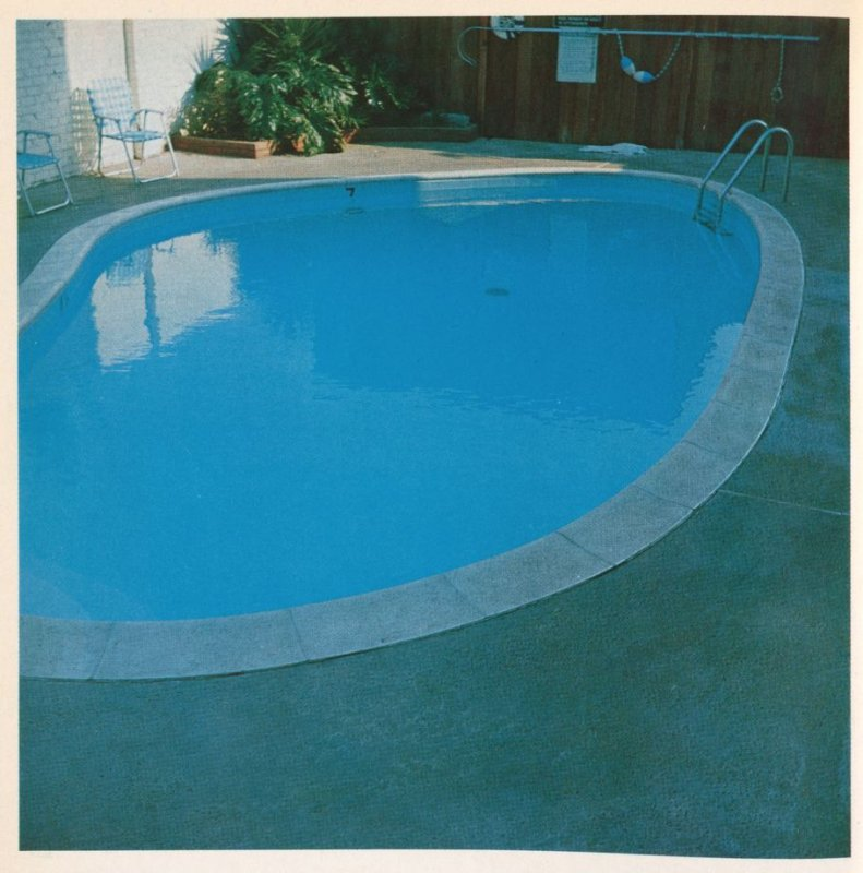 Third image in the book Nine Swimming Pools and a Broken Glass by Edward Ruscha (Los Angeles: Self published, 1968)