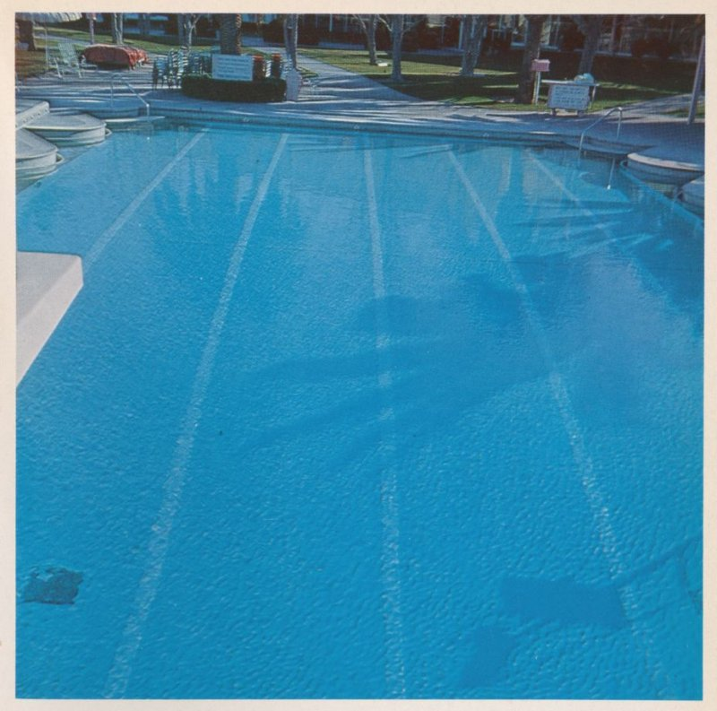 Sixth image in the book Nine Swimming Pools and a Broken Glass by Edward Ruscha (Los Angeles: Self published, 1968)