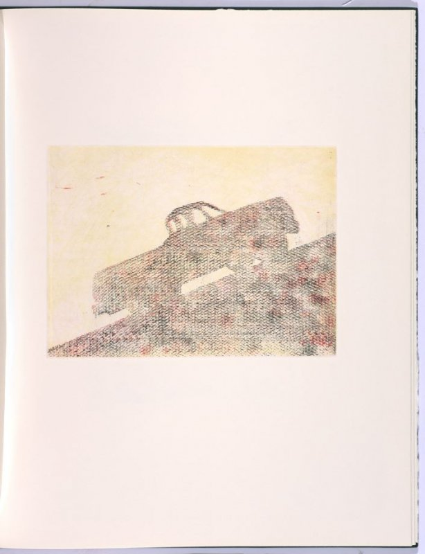 Climbing, in the book Flipping, Kicking, Howling, Rolling, Sitting, Standing, Climbing, Telling by Ed Ruscha (Los Angeles: Sam Francis / The Lapis Press, 1988)