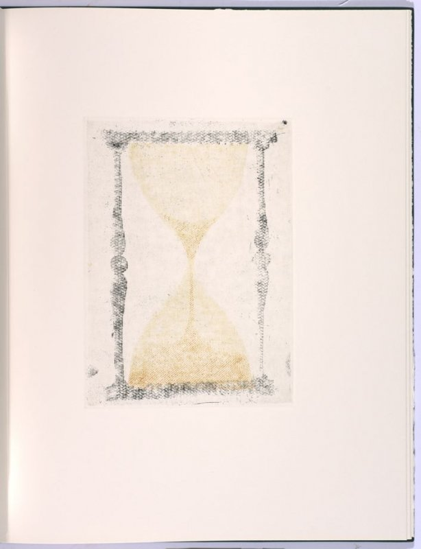 Telling, in the book Flipping, Kicking, Howling, Rolling, Sitting, Standing, Climbing, Telling by Ed Ruscha (Los Angeles: Sam Francis / The Lapis Press, 1988)