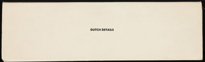 Dutch Details by Ed Ruscha (Octopus Foundation, 1971)