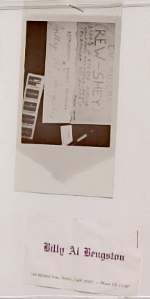 Untitled, illustration 21 and crumple business card, in the book Business Cards by Edward Ruscha in collaboration with Billy Al Bengston (Hollywood: Heavy Industry Publications, 1968)