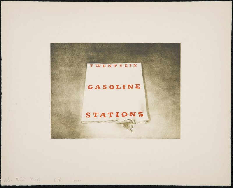 Color Trial Proof for Twentysix Gasoline Stations, from the Book Covers series
