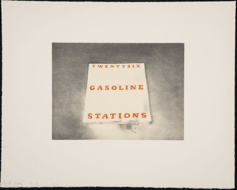 Trial Proof for Twentysix Gasoline Stations, from the Book Covers series