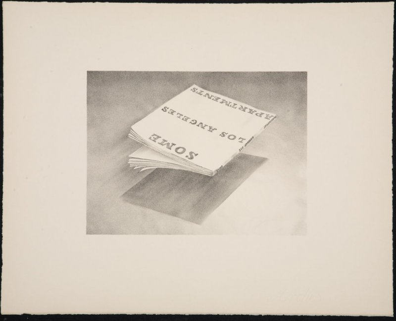 Unmarked Proof for Some Los Angeles Apartments, from the Book Covers series