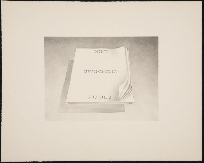Unassigned proof for Nine Swimming Pools, from the Book Covers series