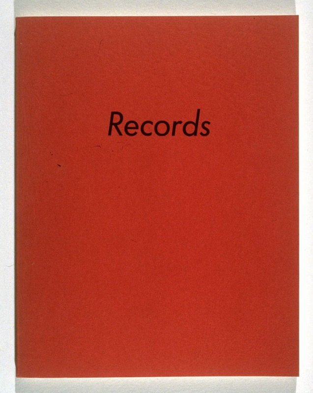 Records by Edward Ruscha (Los Angeles: self published, 1971)