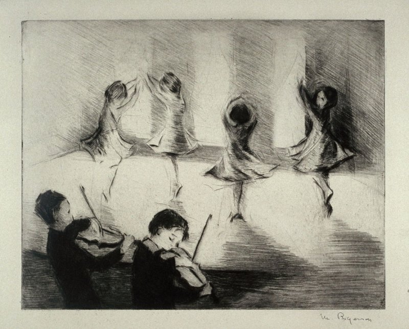 The Curtain Rises (children dancing, with child violinists in foreground)