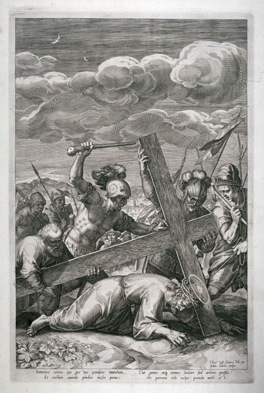 Christ carrying the Cross, from a series of The Passion