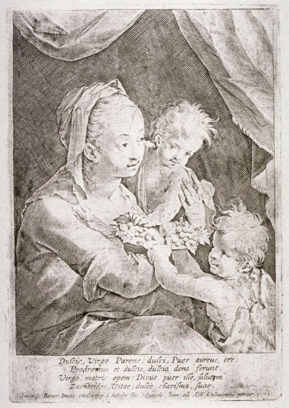 Madonna and Child with the Young St. John the Baptist Holding a Dish of Fruit