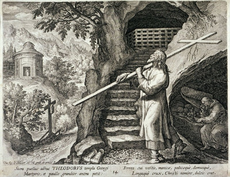 Saint Theodorus, no. 14 from Trophaeum Vitae Solitariae (Lives of the Hermits)