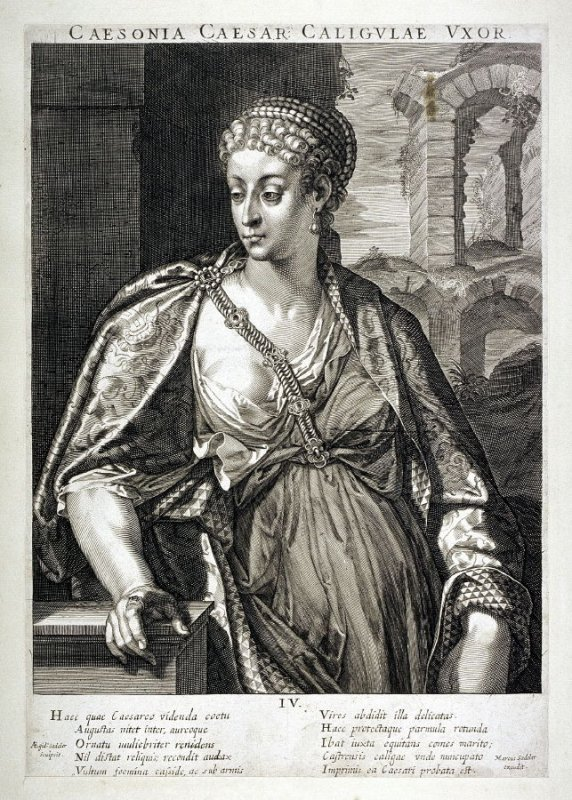 Milonia Caesonia, Wife of Caligula, from set of Roman Emperors and Empresses