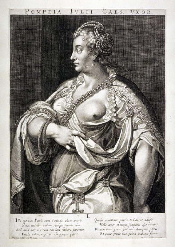 Pompeia, wife of Julius Caesar, from set of Roman Emperors and Empresses