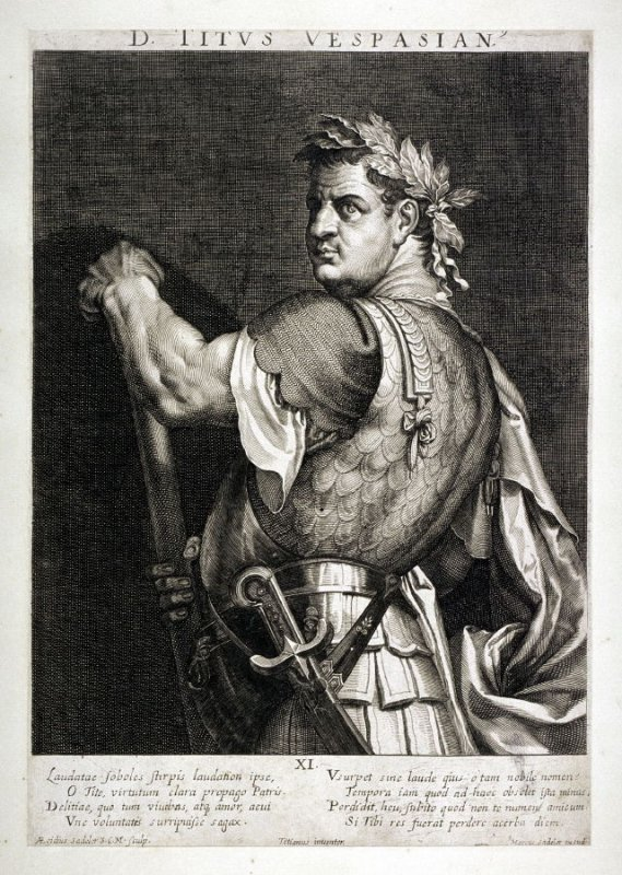 Titus, from set of Roman Emperors and Empresses