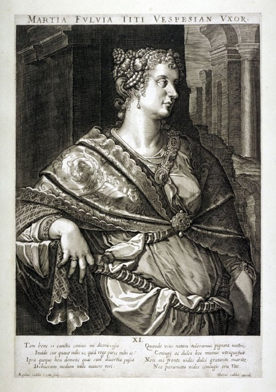 Martia Fulvia, Wife of Titus, from set of Roman Emperors and Empresses