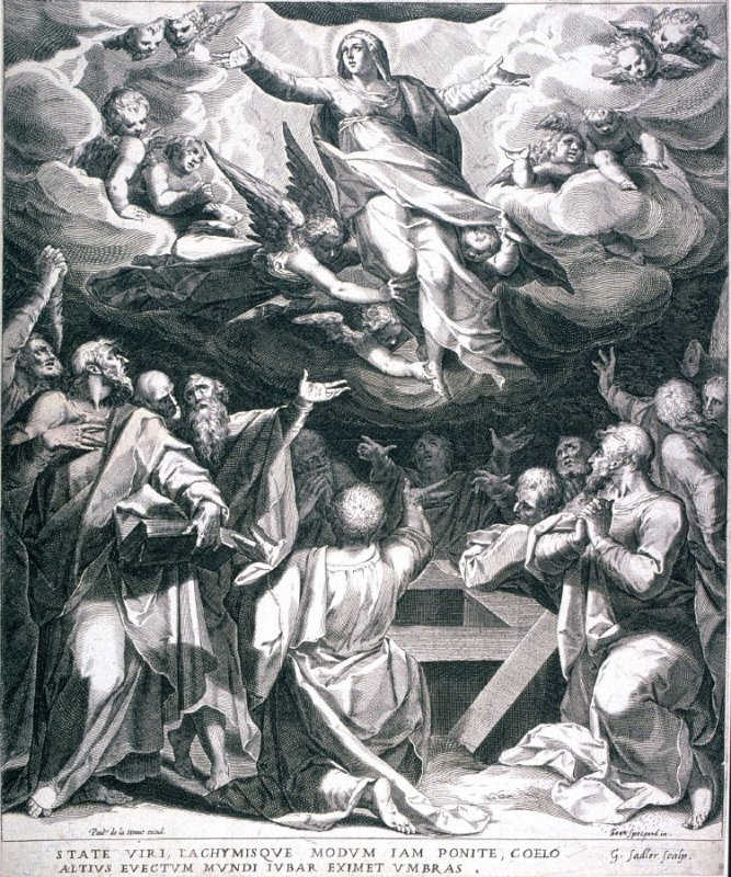 Assumption of the Virgin, from The Life of the Virgin (six prints)