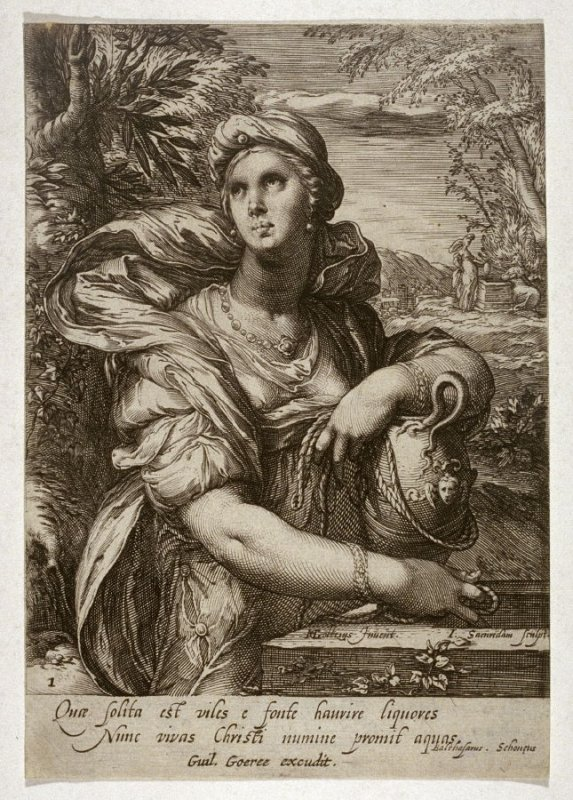 The Samarian Woman at the Well, from series of Famous Women of the New Testament
