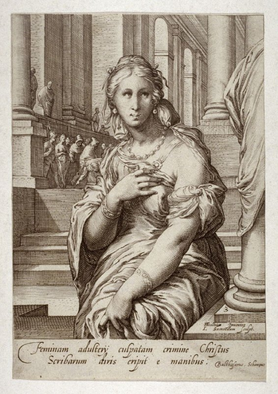 The Adulteress, from series of Famous Women of the New Testament