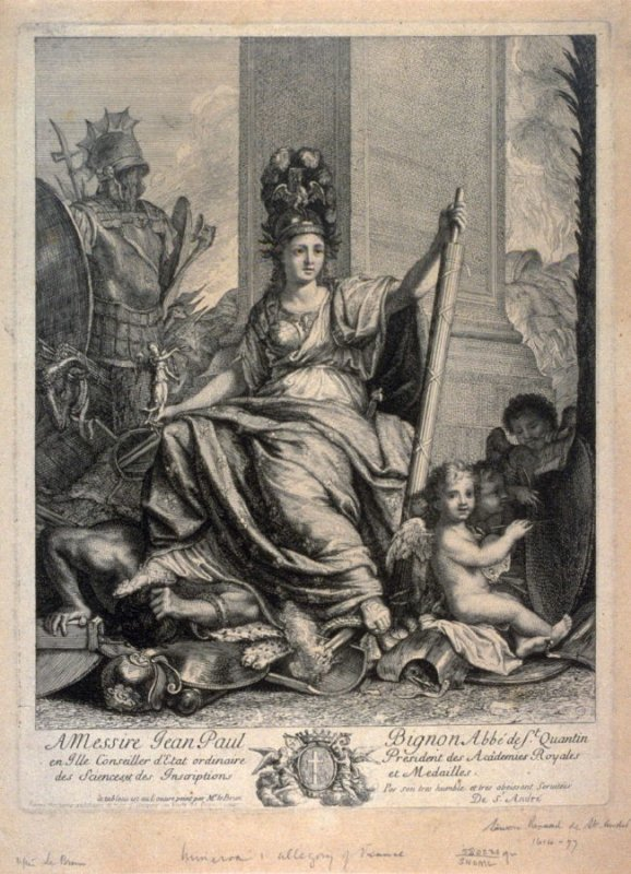 Allegorical painting of French Rule