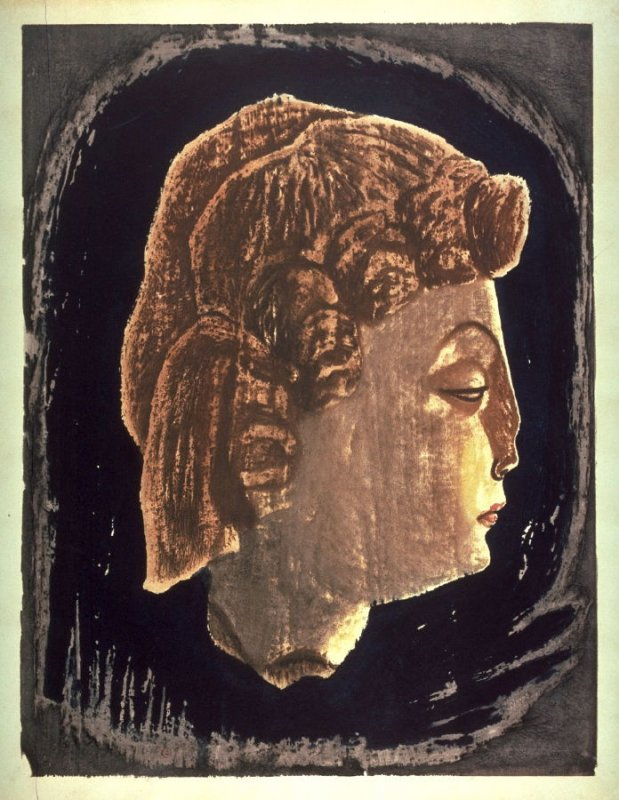 Untitled (Profile view of a head)