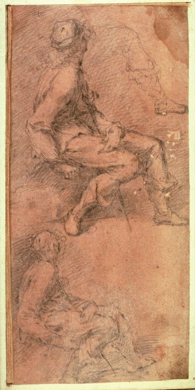 Studies of a Male Figure with a Sword