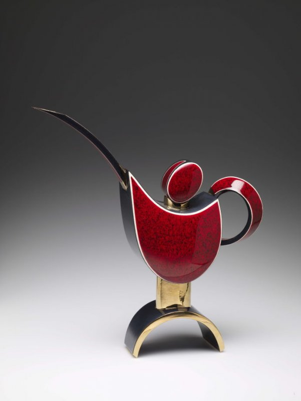 Teapot — Red and Black