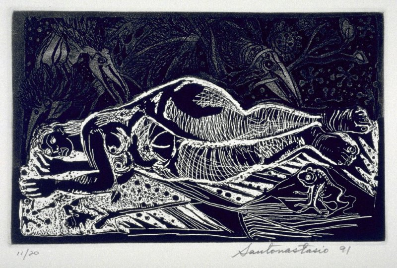 Untitled ( woman in jungle), eleventh plate in the portfolio of the book, Ko-Koi, Noanamá (San Diego: Tuhana Press, 1991)