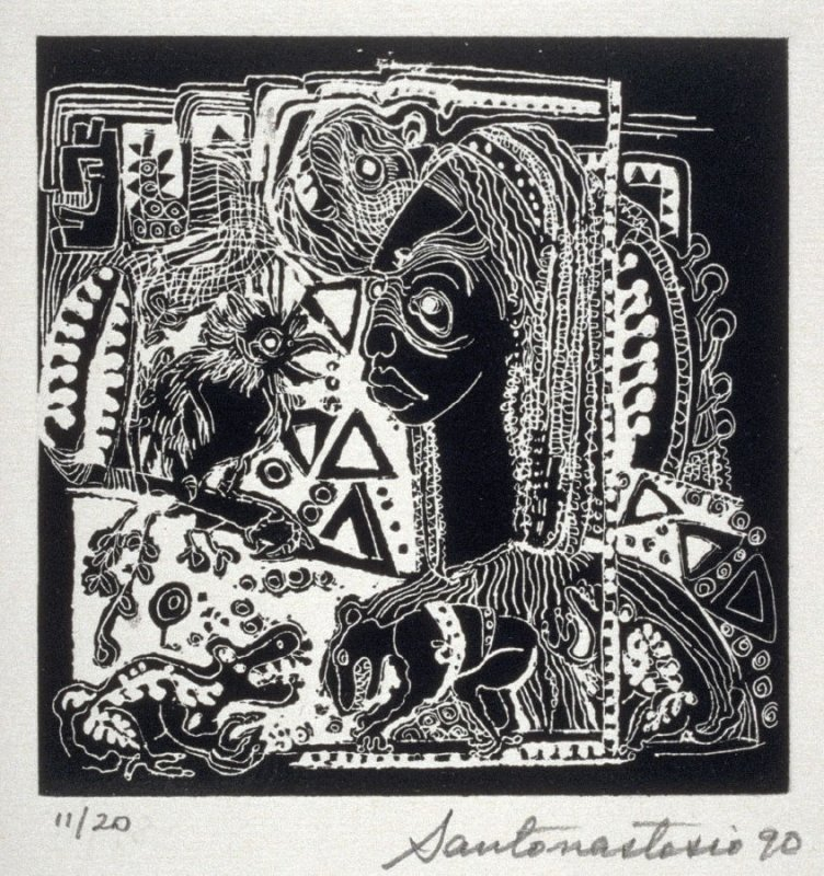 Untitled (frog), first plate in the portfolio of the book, Ko-Koi, Noanamá (San Diego: Tuhana Press, 1991)
