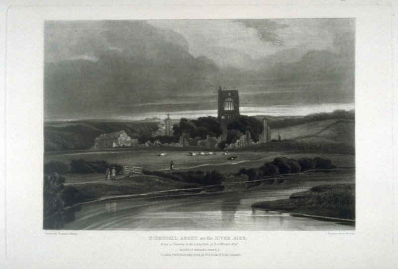 Kirkstall Abbey, on the River Aire, from the series 'The Rivers of England'
