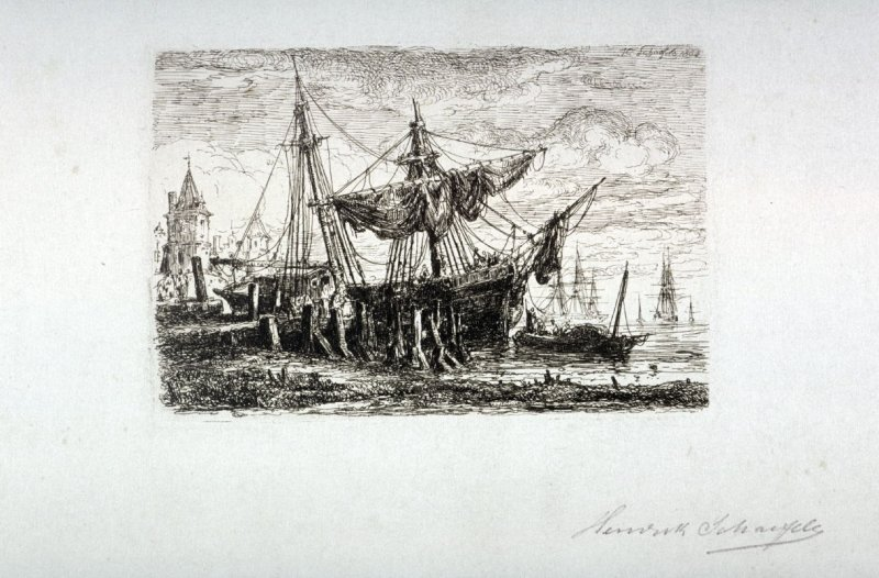 Coast Landscape with Ships
