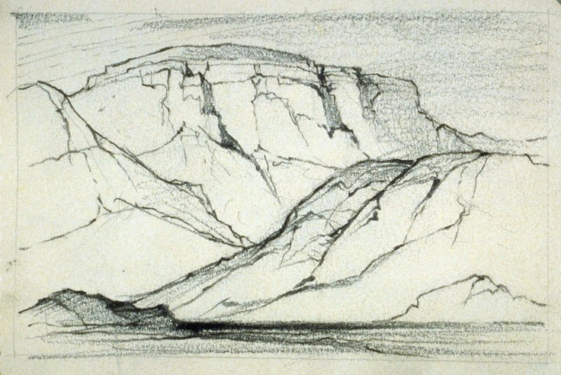 Page 1 in the untitled Sketchbook of Mountain Scenes