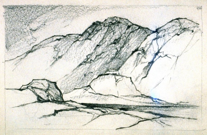 Page 3 in the untitled Sketchbook of Mountain Scenes